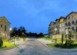 Kuren in Polen: Außenansicht vom Cottonina Villa & Mineral SPA Bad Flinsberg Świeradów-Zdrój Polen