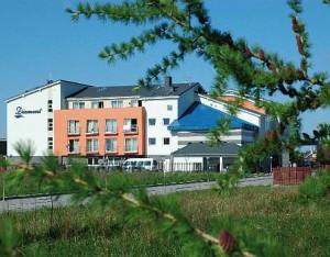 Kuren in Polen: Außenansicht vom Kurhotel Diament in Kolberg Kolobrzeg