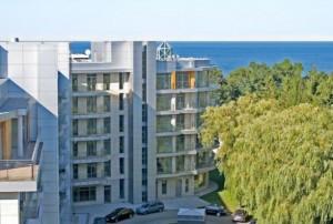 Kuren in Polen: Blick zur Ostsee vom Diune Hotel & Resort Kolberg Kolobrzeg Ostsee