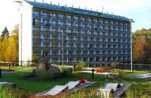Kuren in Tschechien: Blick auf das Hotel Novy Dum in Bad Liebwerda