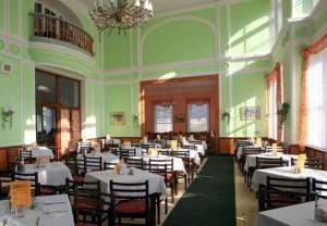 Kuren in Tschechien: Speisesaal in der Nähe des Hotel Novy Dum in Bad Liebwerda
