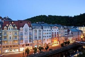Kuren in Tschechien: Abendimpression des SPA Hotel Dvorak in Karlsbad Karlovy Vary
