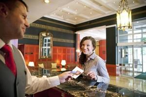 Kuren in Tschechien: An der Rezeption im SPA Hotel Dvorak in Karlsbad Karlovy Vary