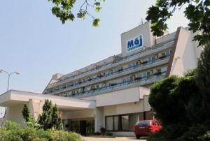 Kuren in der Slowakei: Blick auf das Kurhotel Maj in Piestany Pistyan