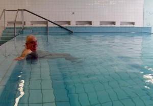 Kuren in der Slowakei: Schwimmbad des Kurhotel Maj in Piestany Pistyan
