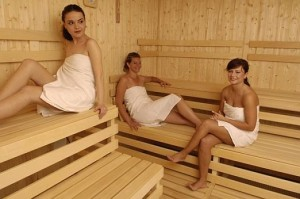 Kuren in der Slowakei: Saunawelt des Kurkomplex Spa Hotel Grand Splendid in Piestany Pistyan