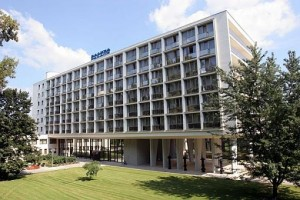 Kuren in der Slowakei: Blick auf den Kurkomplex Spa Hotel Grand Splendid in Piestany Pistyan