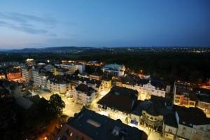 Kuren in Ungarn: Blick auf Héviz vom Hotel aus