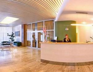 Kuren in der Slowakei: Rezeption im Hotel Park in Piestany Pistyan