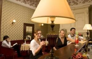 Kuren in Tschechien: Im Cafe des Kurhotel Pawlik in Franzensbad Frantiskovy Lázne