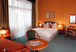 Kuren in Tschechien: Zimmerbeispiel im Hotel Villa Regent in Marienbad Mariánske Lázne Westböhmen