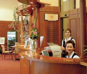 Kuren in Tschechien: Rezeption im Hotel Reitenberger in Marienbad Marianske Lazne