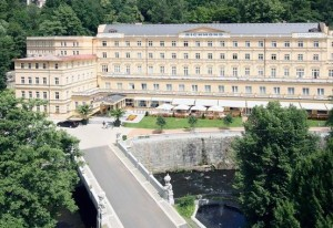 Kuren in Tschechien: Außenansicht vom Parkhotel Richmond in Karlsbad Karlovy Vary