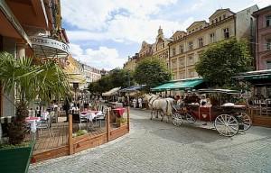 Kuren in Tschechien: Blick auf das SPA Hotel Salvator in Karlsbad Tschechien