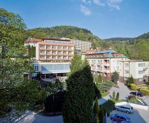 Kuren in Tschechien: Blick auf das Green House des Spa Resort Sanssouci in Karlsbad (Karlovy Vary)