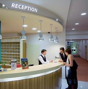Kuren in Tschechien: Lobby des Spa Resort Sanssouci in Karlsbad Karlovy Vary
