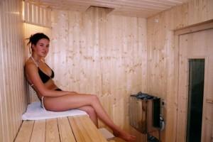 Kuren in Tschechien: Sauna im Kurhaus Sevilla in Franzensbad Frantiskovy Lazne