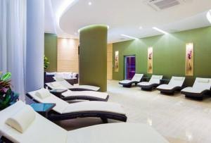Kuren in Polen: Im SPA Bereich im neuen Hotelteil des Hotel Unitral in Mielno