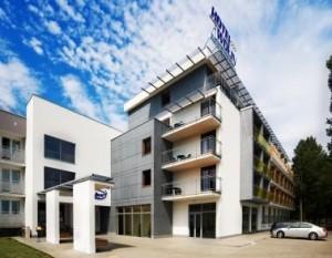 Kuren in Polen: Blick auf das Hotel Wolin in Misdroy Miedzyzdroje Ostsee
