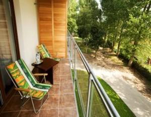 Kuren in Polen: Blick vom Balkon des Kurhotel Wolin in Misdroy Miedzyzdroje